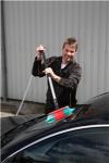 Autowaschbürste mit Wasserdurchlauf, 270 mm, weich/gesplisst, schwarz